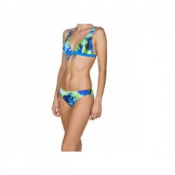 Arena Costume Palm Bow Bra Donna Pix Blue