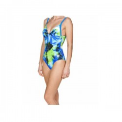 Arena Costume Intero Palm Donna Pix Blue