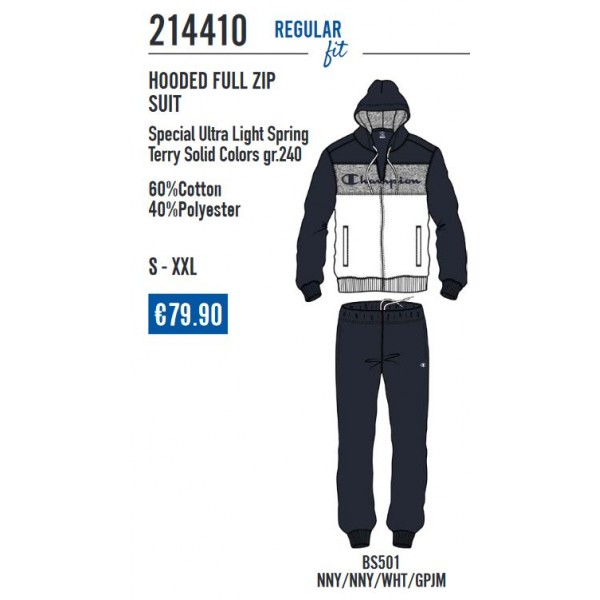 Hooded full zip suite 214410 Champion
